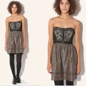 Urban Outfitters   Metallic Sequin Milkmaid Dress